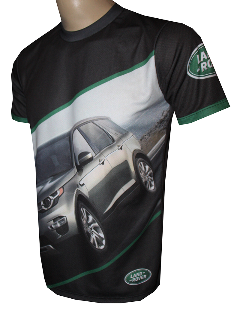 Land Rover T Shirt With Logo And All Over Printed Picture T Shirts