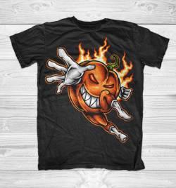 pumpkin helloween hero tshirt