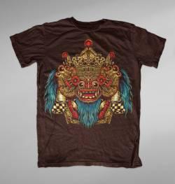 barong mask lion bali colorful t shirt