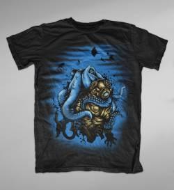 deep water mystery ocean diving tshirt