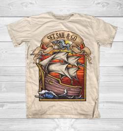 explore sea pirate boat funny tshirt