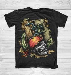 pirate caribbean skull life funky shirt