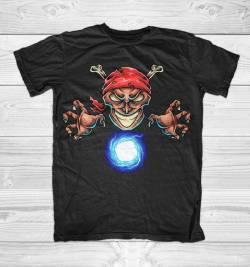 pirate magician color tshirt maglietta