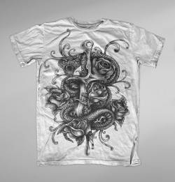 dagger snake graphic graffiti t shirt