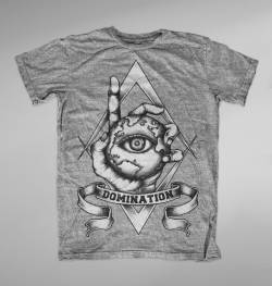 domination illuminati black white tshirt