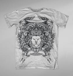 lion king animals crest black white t shirt