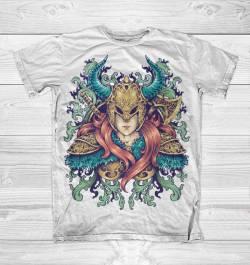 warrior goddess illustration design tshirt