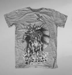 warrior skull illustration battle tshirt