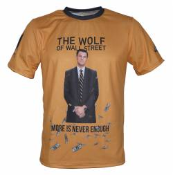 wolf of wall street money di caprio movie t shirt