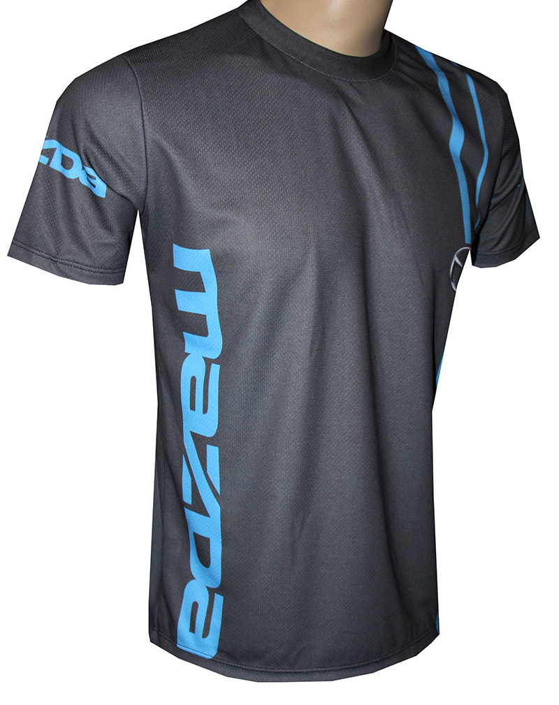 Mazda t shirt with logo and all over printed picture t for Funky t shirts online