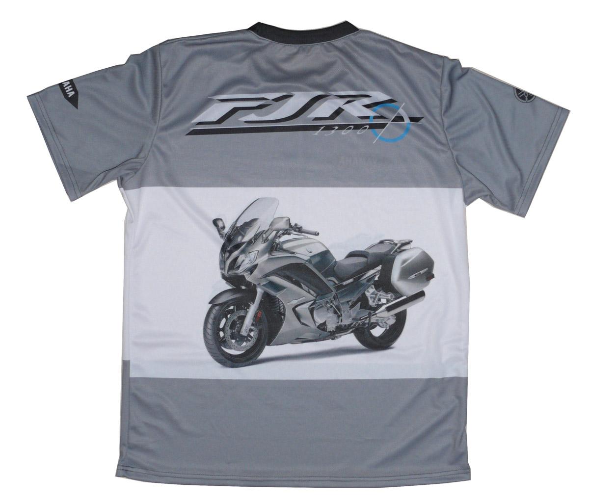 Yamaha Fjr 1300 T Shirt With Logo And All Over Printed