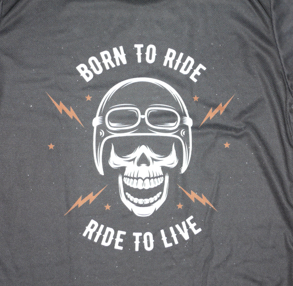 born to ride to live moto gears t shirt