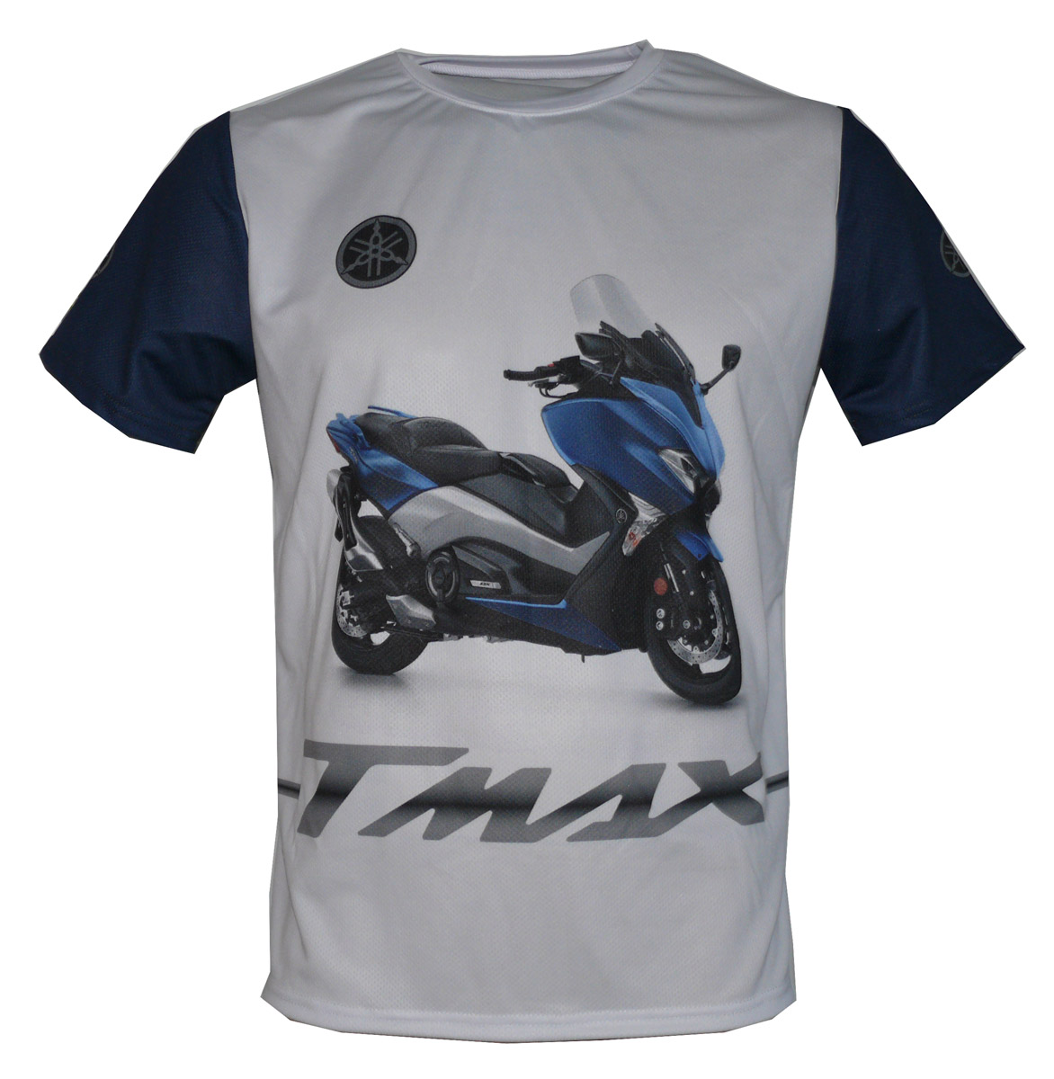 yamaha t max 2017 t shirt with logo and all over printed. Black Bedroom Furniture Sets. Home Design Ideas