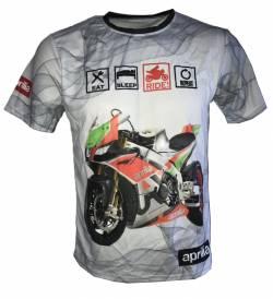 aprilia dorsoduro shiver rsv4 1100 motorsport racing tshirt
