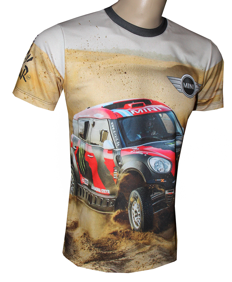 Mini Cooper T Shirt With Logo And All Over Printed Picture