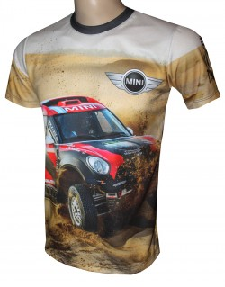 camiseta motorsport racing mini cooper dakar rally