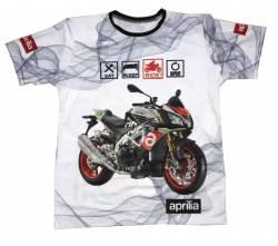 aprilia dorsoduro moto tuono v4 motorsport racing camiseta