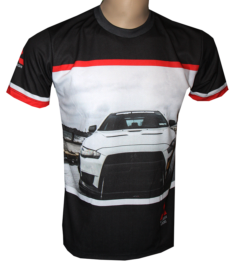 mitsubishi t shirt with logo and all over printed picture. Black Bedroom Furniture Sets. Home Design Ideas
