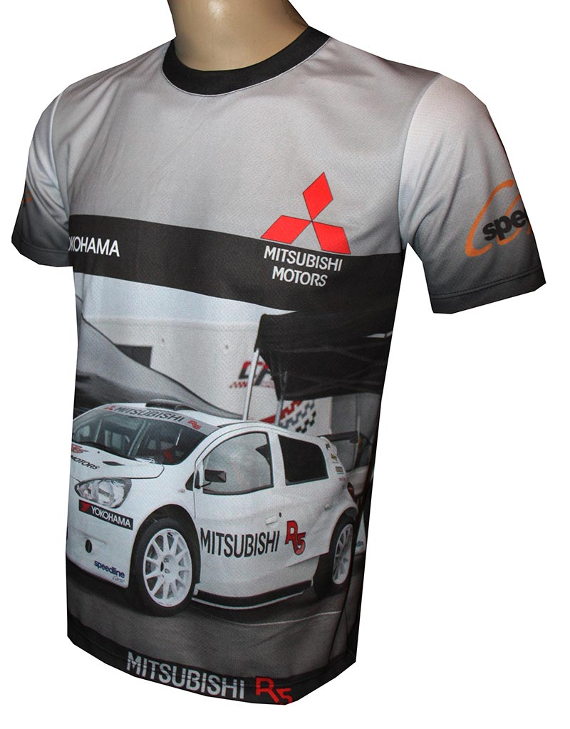mitsubishi r5 t shirt with logo and all over printed. Black Bedroom Furniture Sets. Home Design Ideas