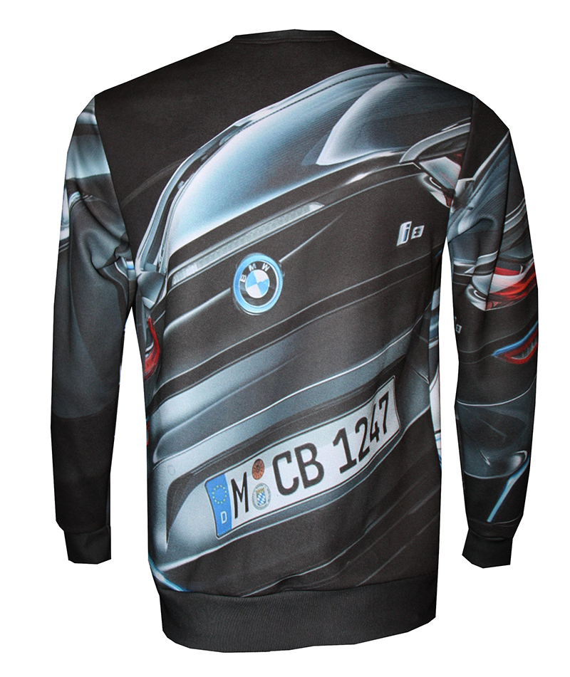 BMW I8 Long Sleeves With Logo And All-over Printed Picture