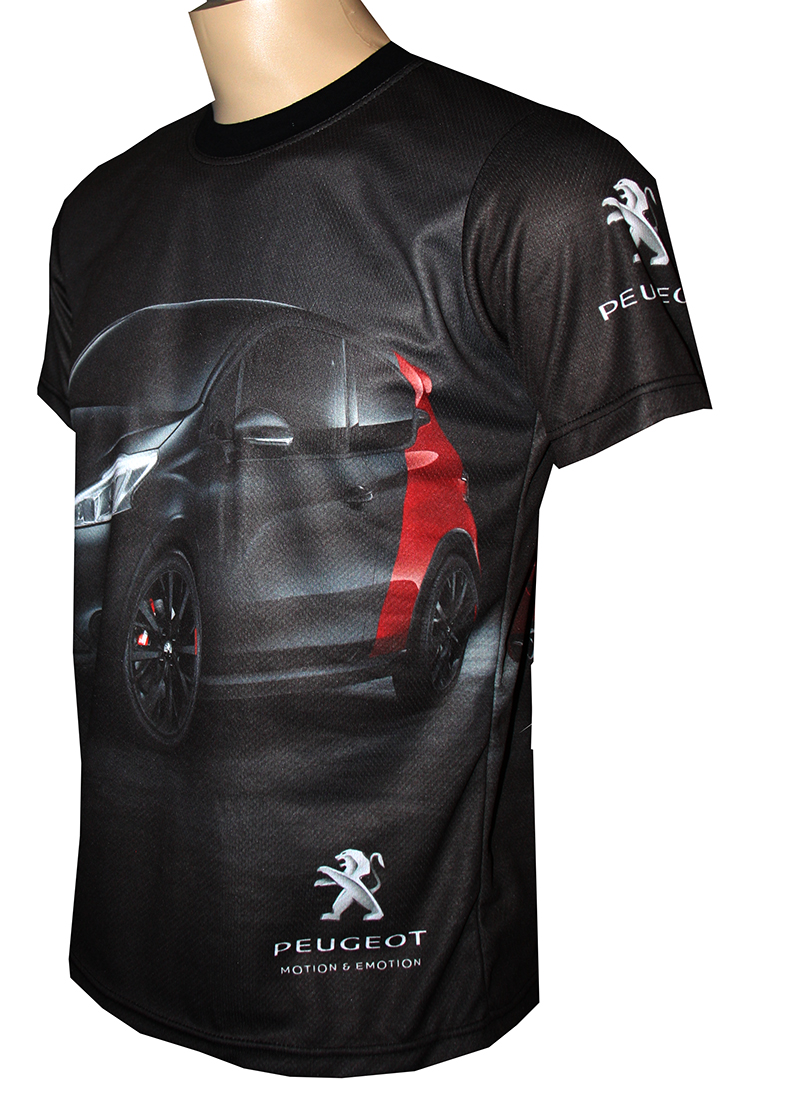 peugeot 208 gti t shirt with logo and all over printed picture t shirts with all kind of auto. Black Bedroom Furniture Sets. Home Design Ideas