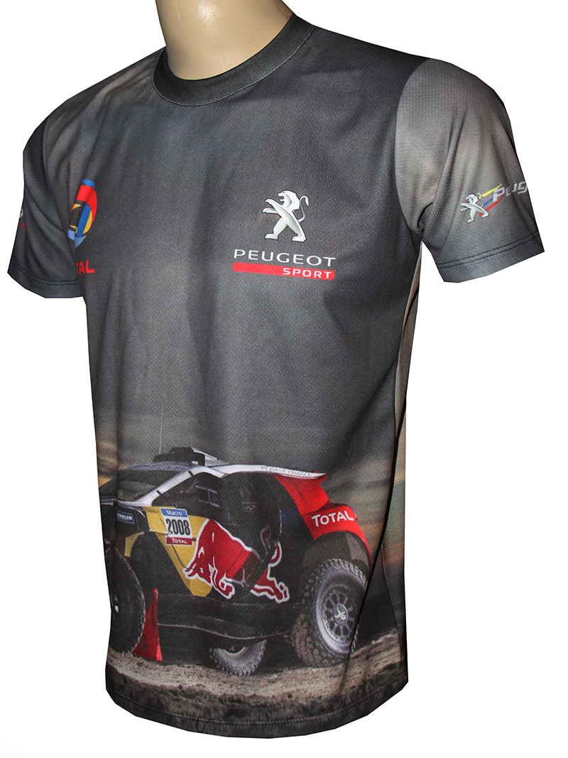 peugeot sport t shirt with logo and all over printed picture t shirts with all kind of auto. Black Bedroom Furniture Sets. Home Design Ideas