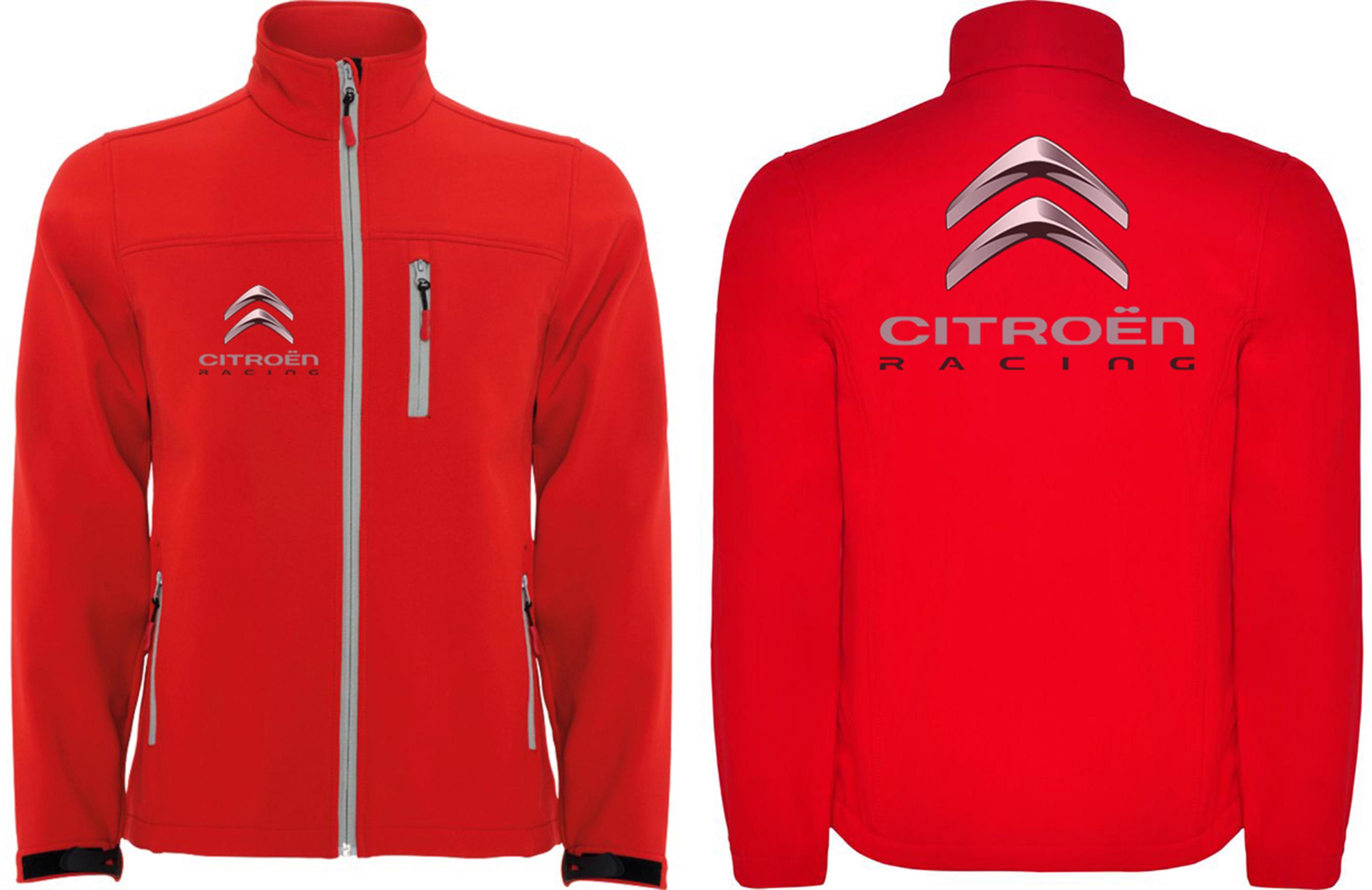 New Men/'s CITROEN Fleece Jacket Motor Sport Clothing Embroidered