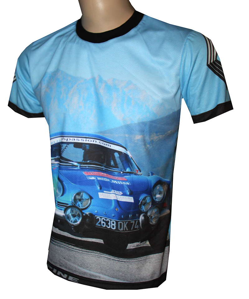 renault alpine t shirt with logo and all over printed picture t shirts with all kind of auto. Black Bedroom Furniture Sets. Home Design Ideas