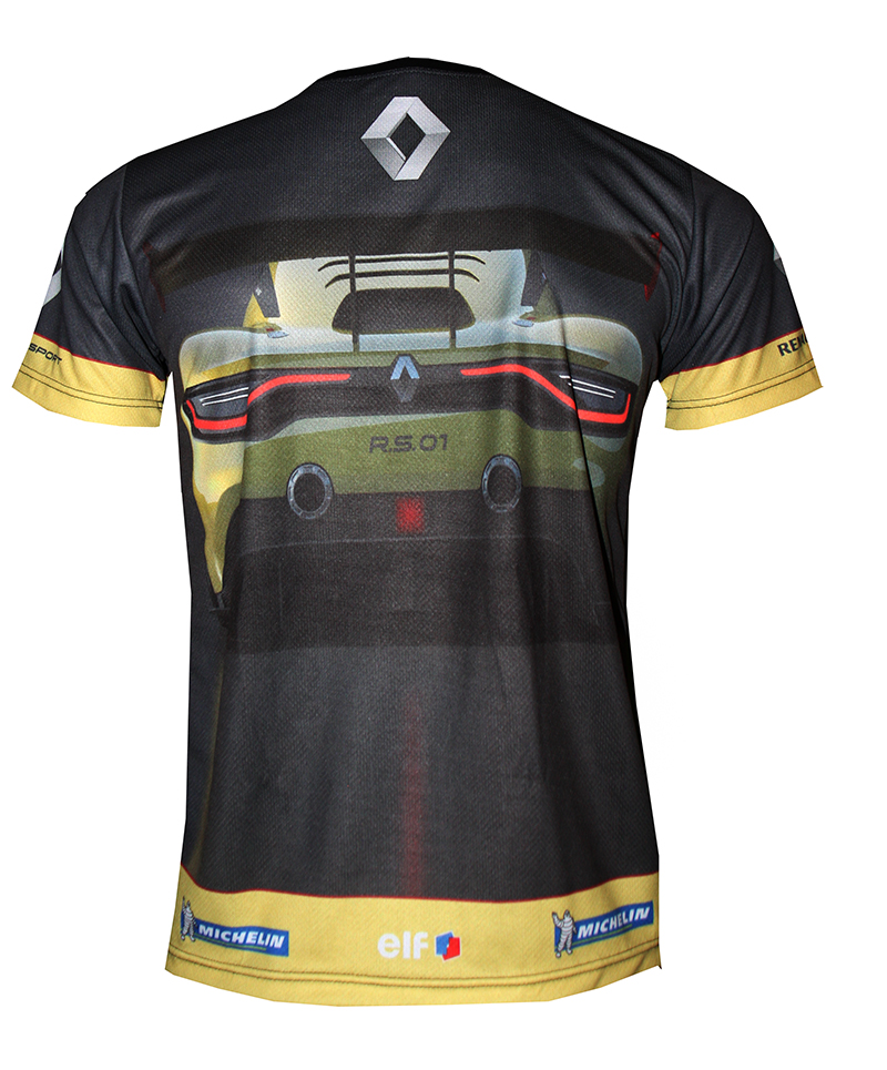 renault rs t shirt with logo and all over printed picture t shirts with all kind of auto moto. Black Bedroom Furniture Sets. Home Design Ideas