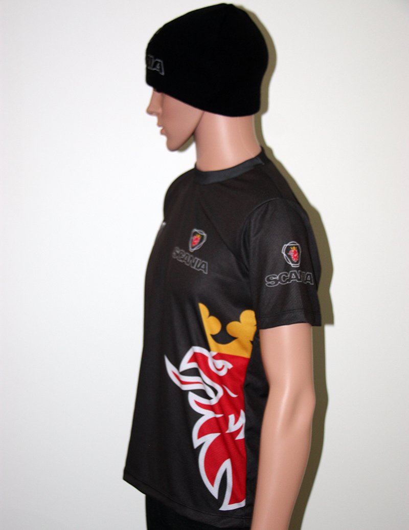 Scania T Shirt With Logo And All Over Printed Picture T Shirts With All Kind Of Auto Moto