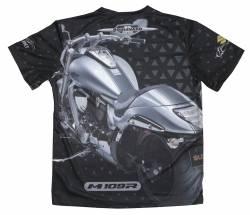 boulevard suzuki motorcycle boss S-3X M109R SILHOUETTE BLACK T-SHIRT