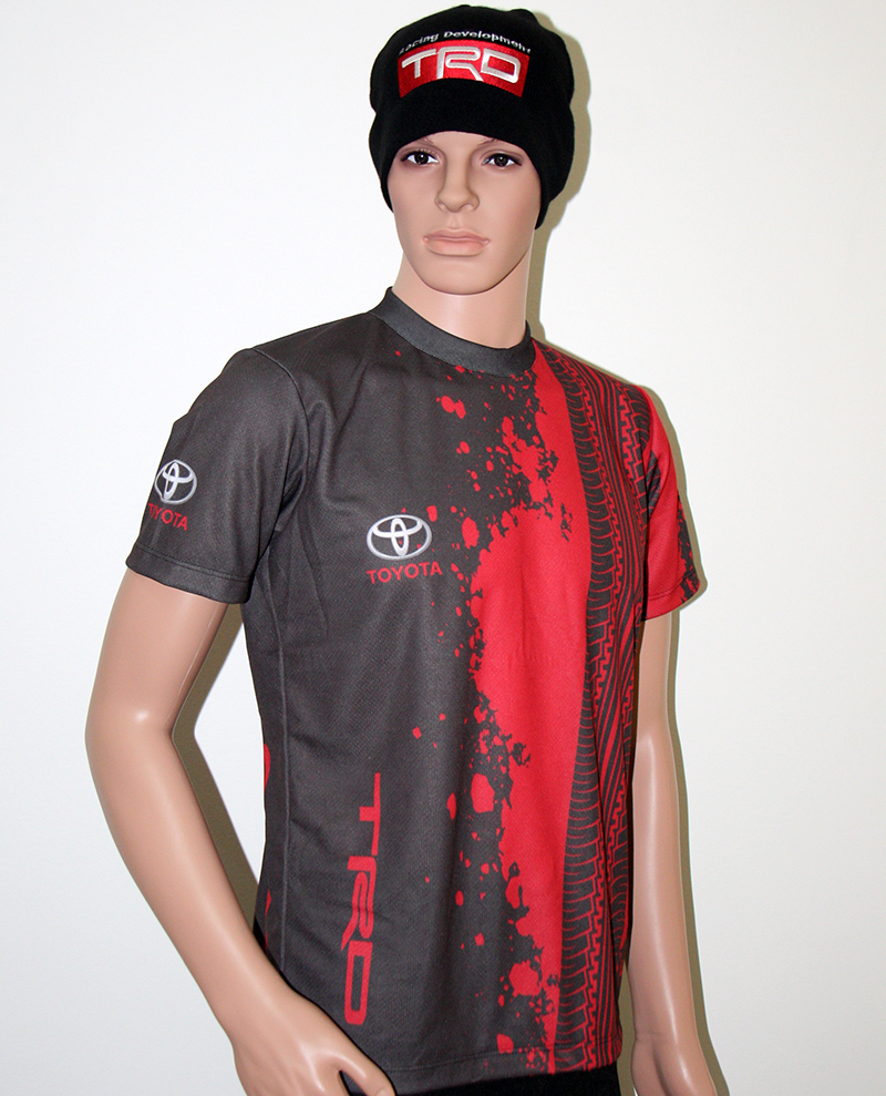 Toyota TRD t-shirt with logo and all-over printed picture ...