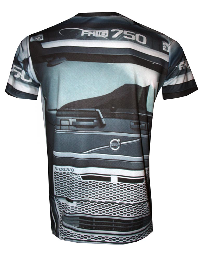 Volvo 750 t-shirt with logo and all-over printed picture - T-shirts with all kind of auto, moto ...