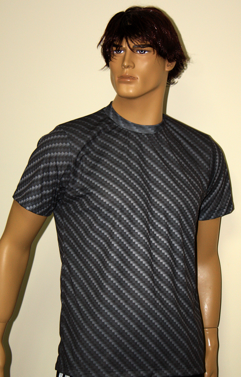 carbon fiber look t shirt with logo and all over printed. Black Bedroom Furniture Sets. Home Design Ideas