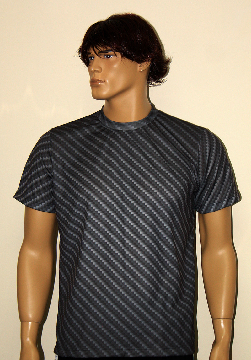 Carbon Fiber Look T Shirt With Logo And All Over Printed