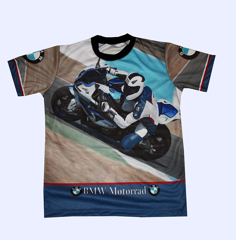 BMW S1000RR t-shirt with logo and all-over printed picture - T ...