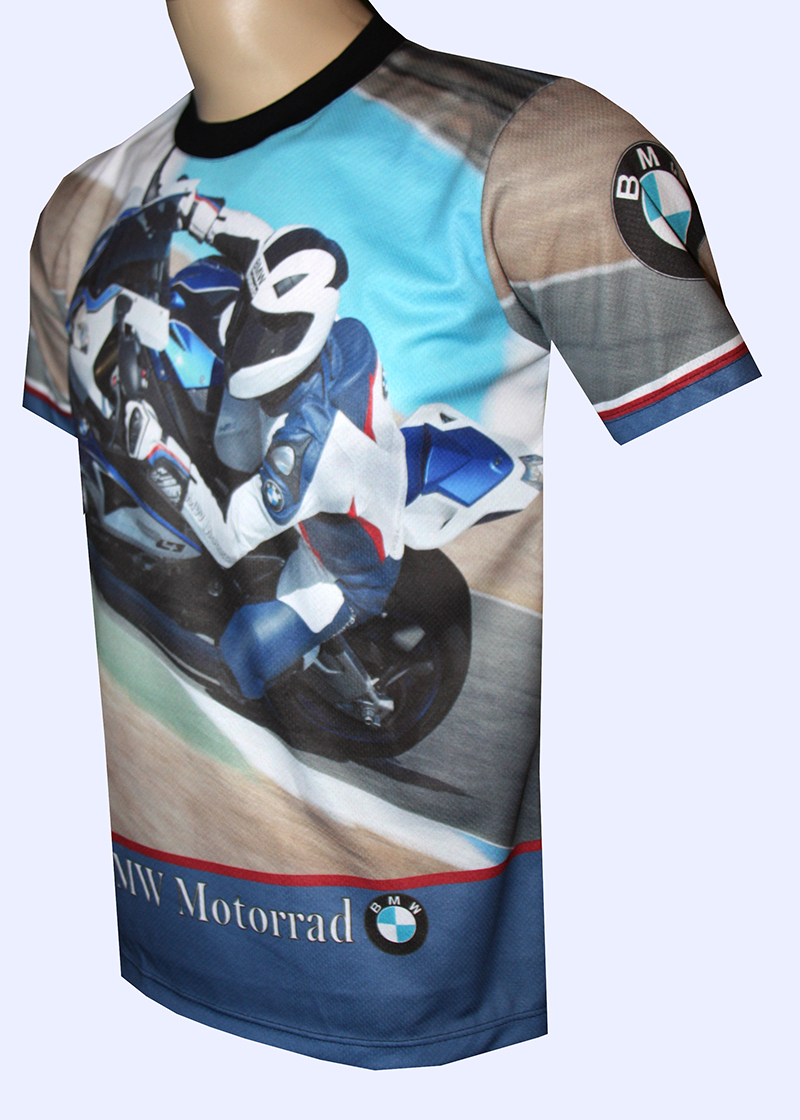 bmw s1000rr t shirt with logo and all over printed picture. Black Bedroom Furniture Sets. Home Design Ideas