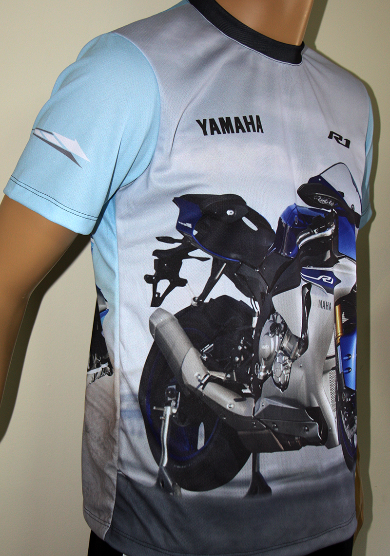 yamaha r1 t shirt with logo and all over printed picture t shirts with all kind of auto moto. Black Bedroom Furniture Sets. Home Design Ideas