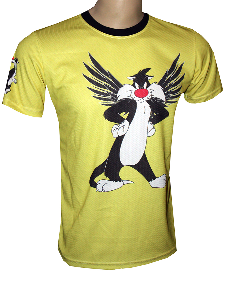 Sylvester the cat t shirt with logo and all over printed for Funky t shirts online