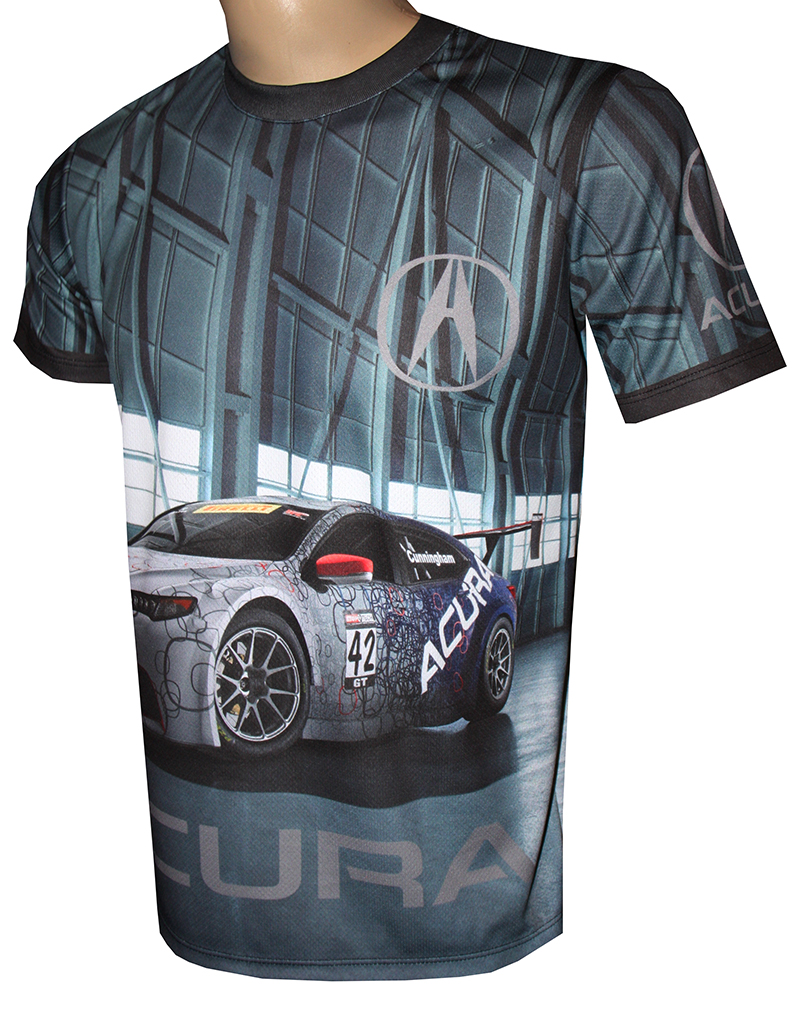 Acura Tshirt With Logo And Allover Printed Picture Tshirts With - Acura shirt