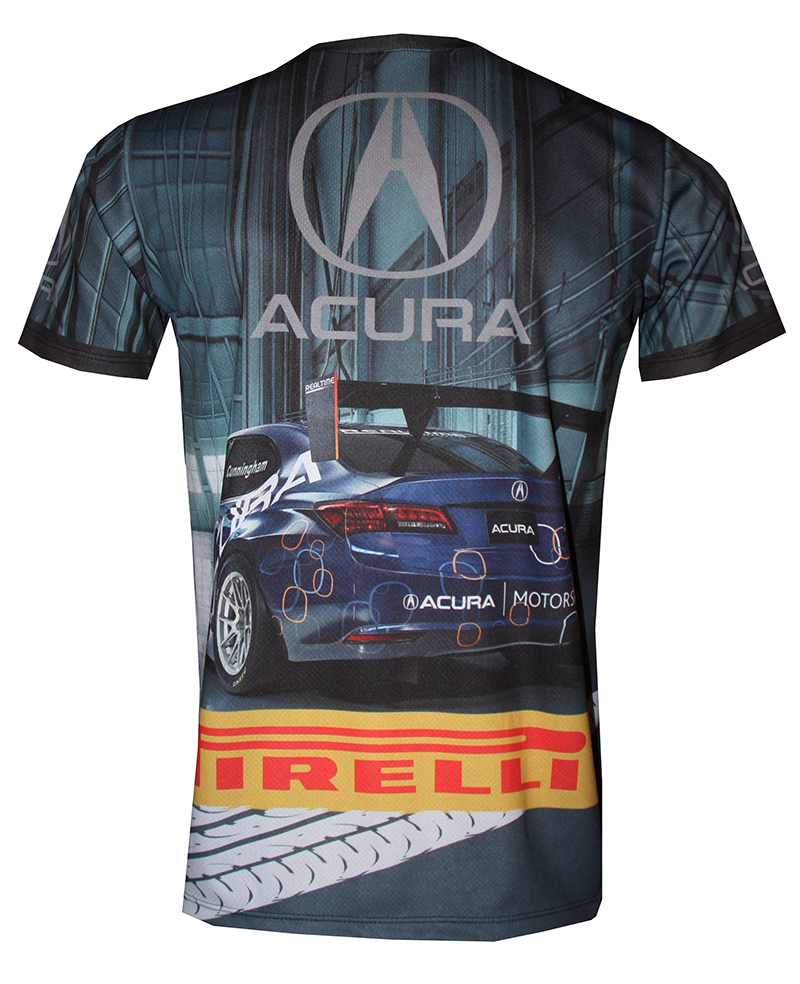 Acura T-shirt With Logo And All-over Printed Picture