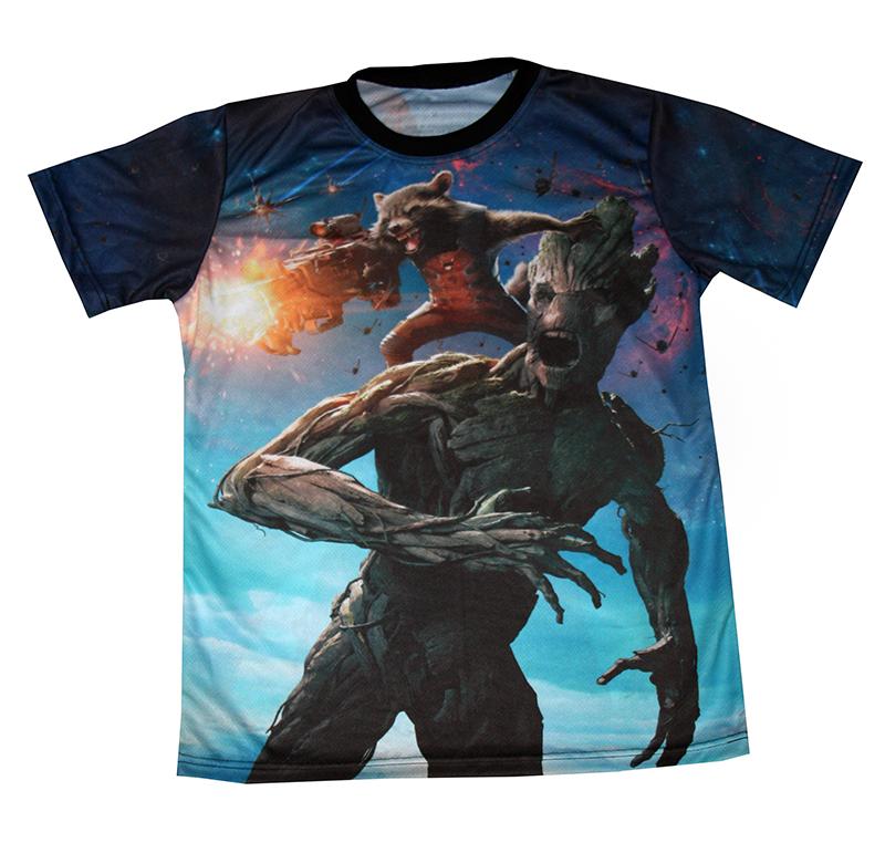 Guardians Of The Galaxy T Shirt With All Over Printed Picture T Shirts With All Kind Of Auto