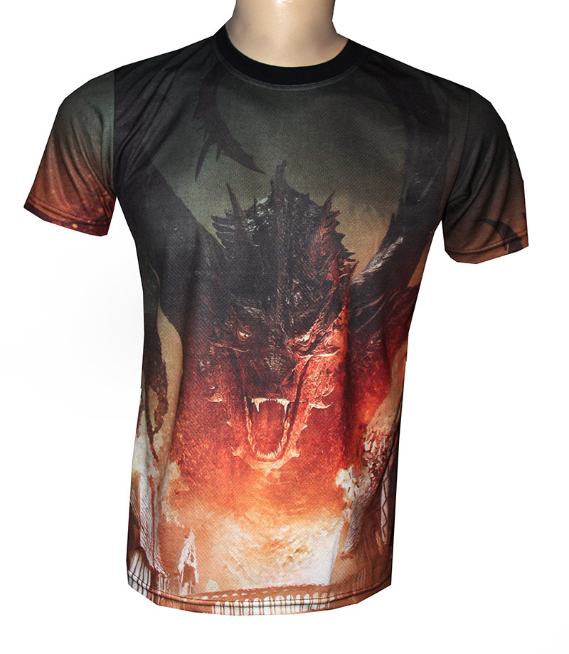 Hobbit Battle Of The Five Armies Smaug Allover Sublimation T-Shirt