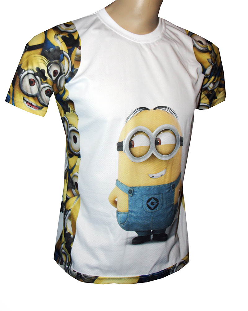 The Minions t-shirt with logo and all-over printed picture
