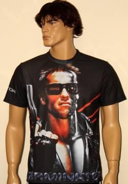 terminator arnold schwarzenegger maglietta film serie